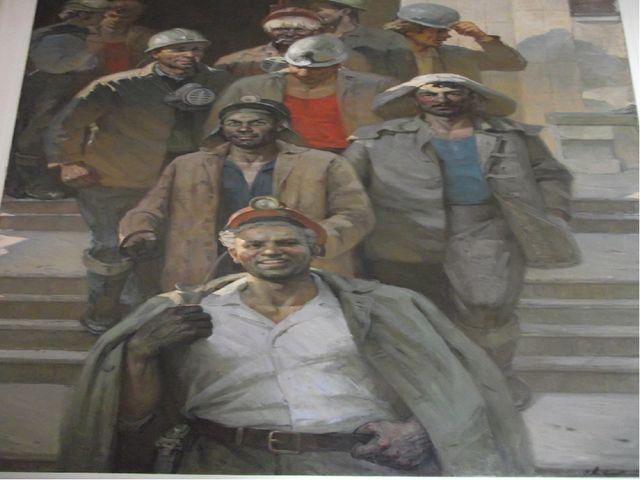 «Богатыри Донбасса» 1979 год, холст, масло. Ахвледиани В.Т. (1924-1984)