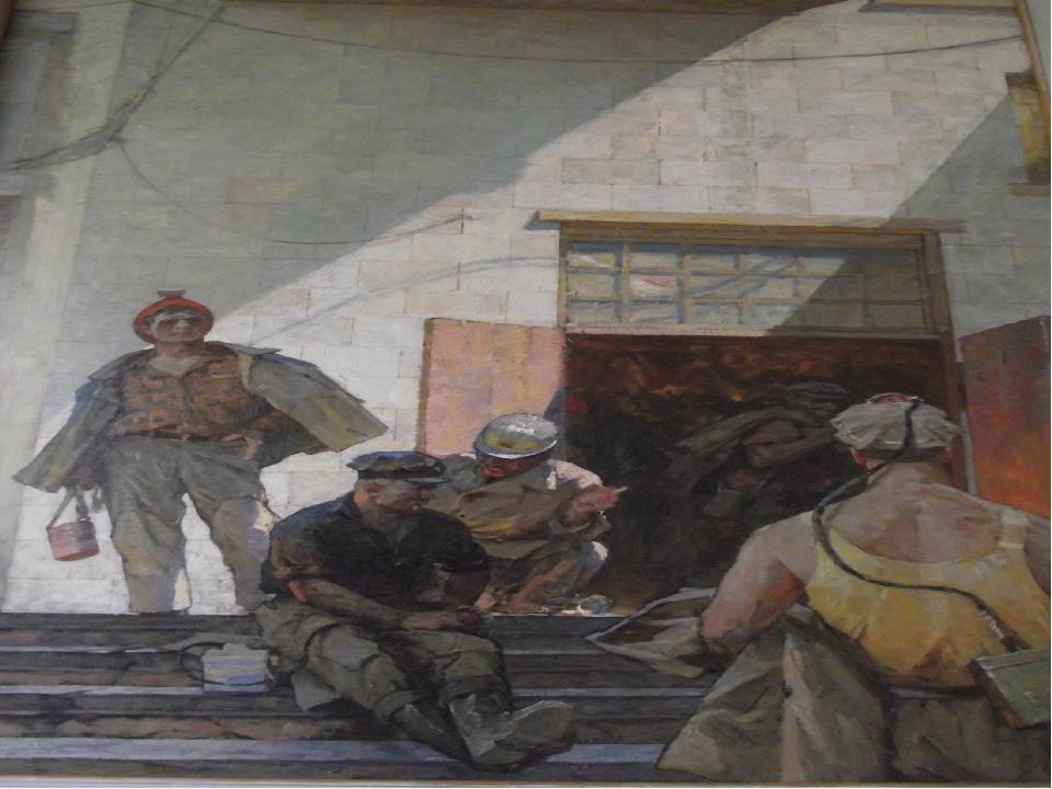 «На шахте Горской» 1971 год, холст, масло. Вольштейн М.Л.(1916-2000) Фильбер...