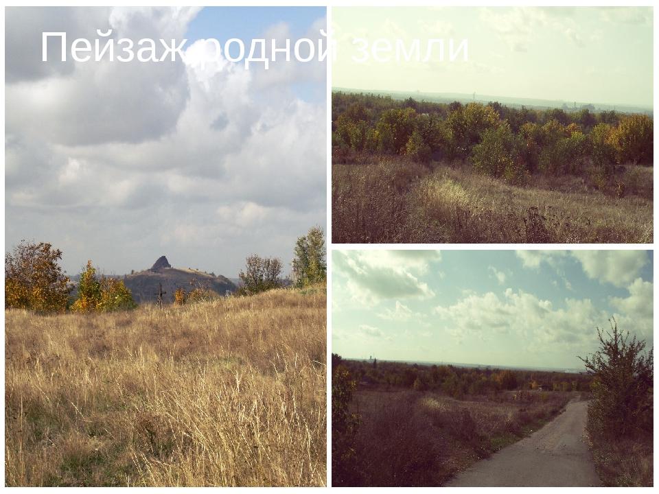Пейзаж родной земли