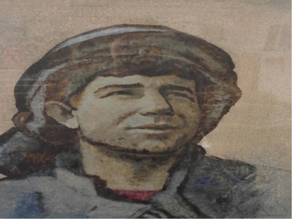 «Молодой шахтер» 1983 год, гуашь, монотипия