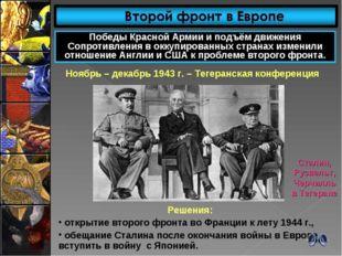 Победы Красной Армии и подъём движения Сопротивления в оккупированных странах