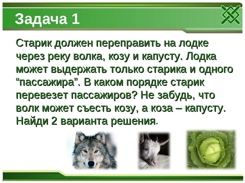 загадка про волка козу и капусту ответ полипропилена