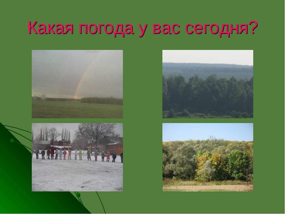 Какая погода у вас сегодня?