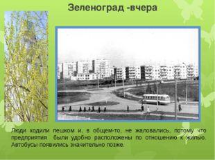 Зеленоград -вчера Люди ходили пешком и, в общем-то, не жаловались, потому что