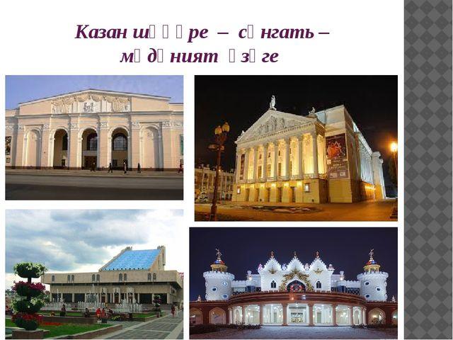 Казан шәһәре – сәнгать – мәдәният үзәге