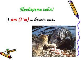 Проверьте себя! I am (I'm) a brave cat.