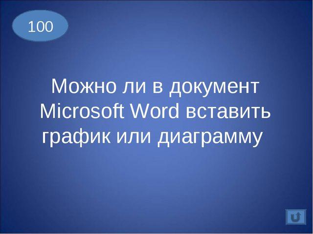 100 Можно ли в документ Microsoft Word вставить график или диаграмму