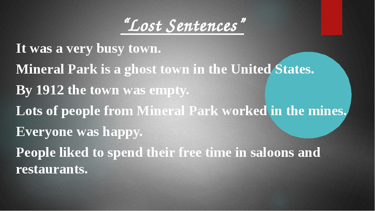 """""""Lost Sentences"""" It was a very busy town. Mineral Park is a ghost town in the..."""