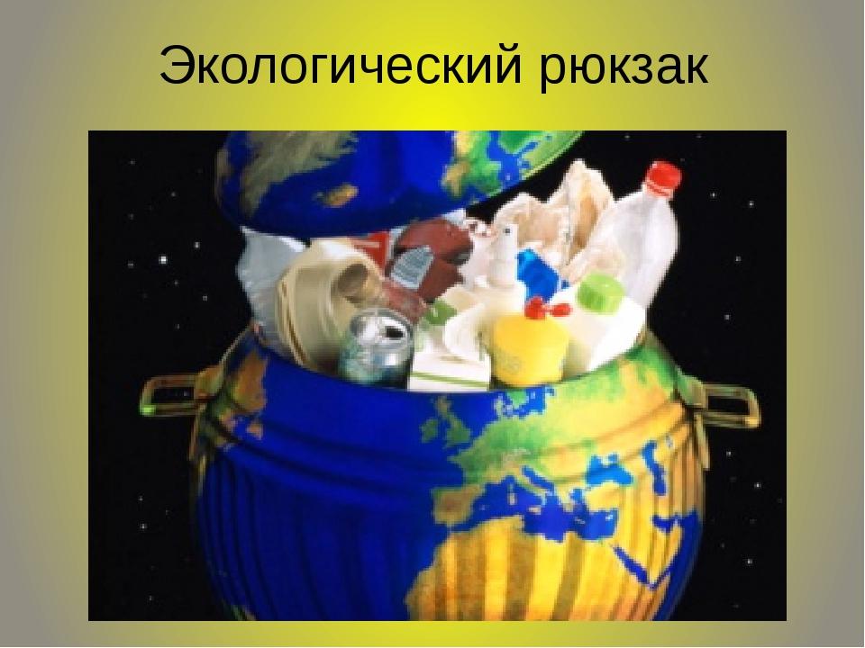 Экологический рюкзак
