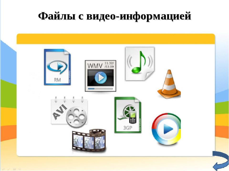 Файлы с видео-информацией