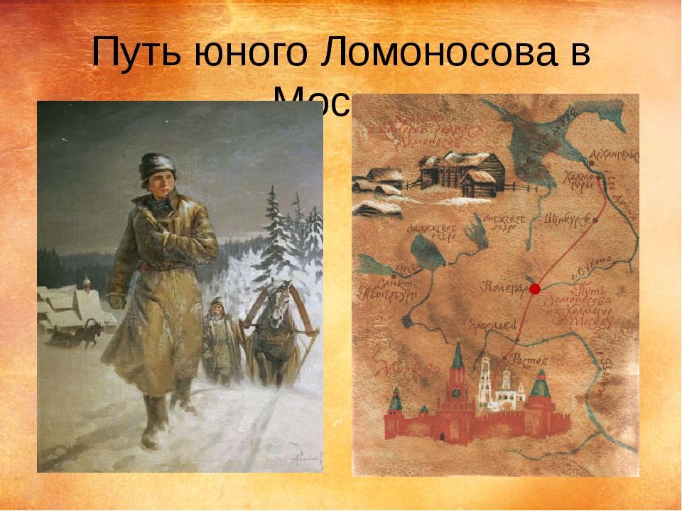 Путь юного Ломоносова в Москву