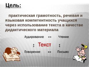 практическая грамотность, речевая и языковая компетентность учащихся через и