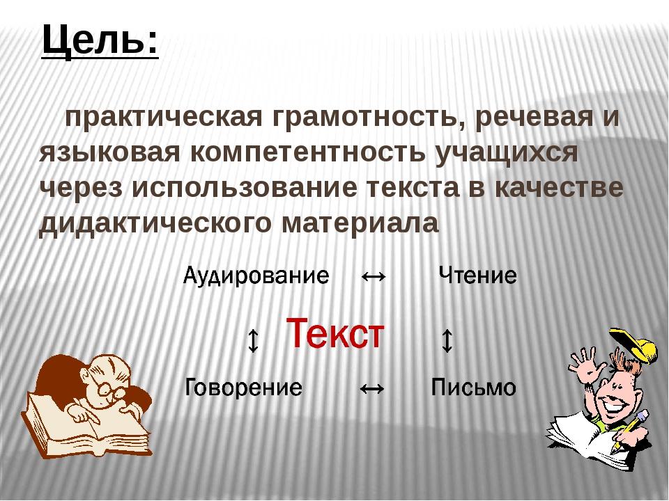 практическая грамотность, речевая и языковая компетентность учащихся через и...