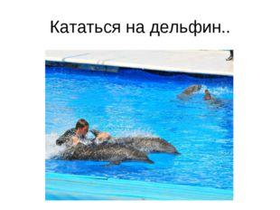 Кататься на дельфин..