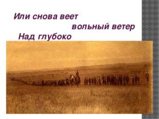 Или снова веет вольный ветер Над глубоко спящими полками?