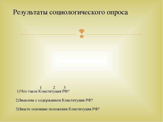 1)Что такое Конституция РФ? 2)Знакомы с содержанием Конституции РФ? 3)Знаете...