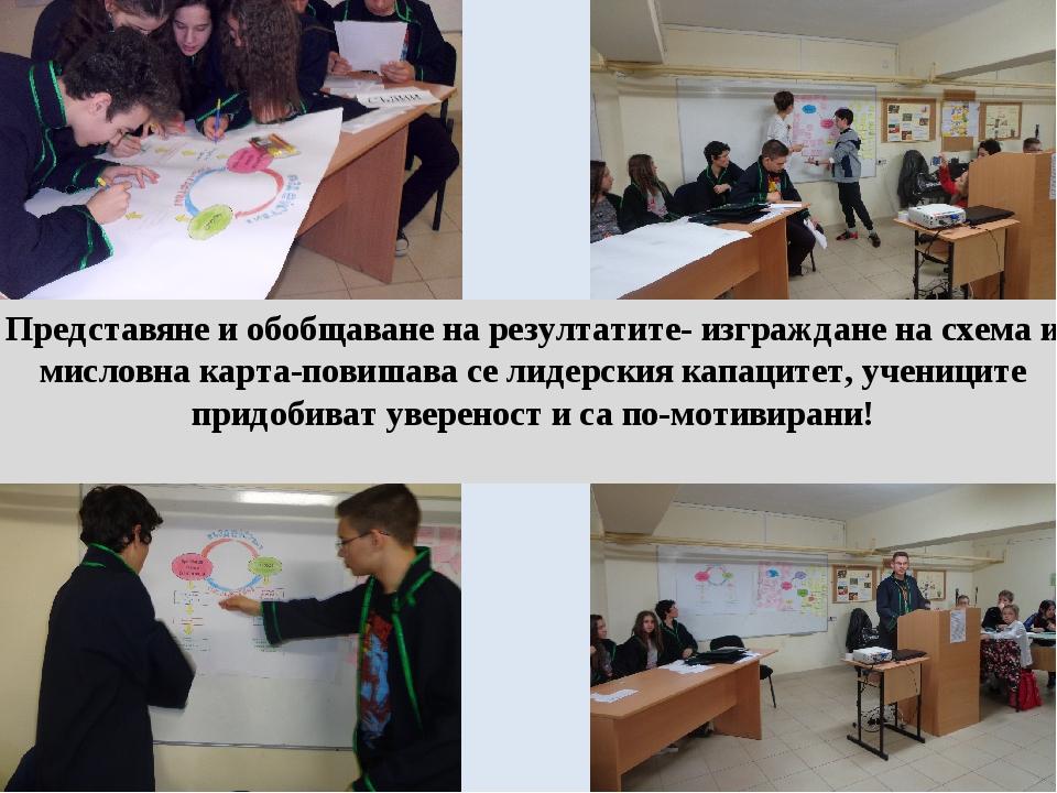 Представяне и обобщаване на резултатите- изграждане на схема и мисловна карта...