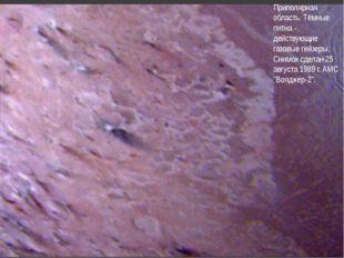 Приполярная область. Тёмные пятна - действующие газовые гейзеры. Снимок сдела