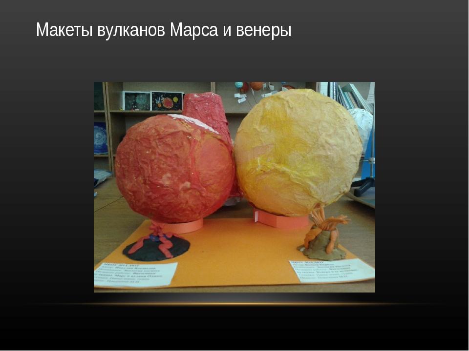 Макеты вулканов Марса и венеры