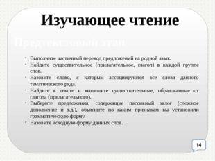 Выполните частичный перевод предложений на родной язык. Найдите существительн