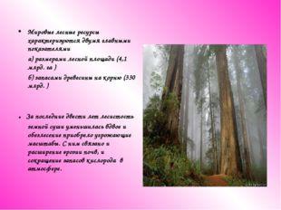 Мировые лесные ресурсы характеризуются двумя главными показателями а) размера
