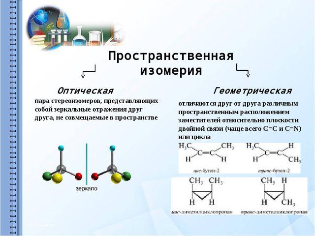 Межклассовая изомерия Межклассовая изомерия – изомерия веществ, принадлежащи...