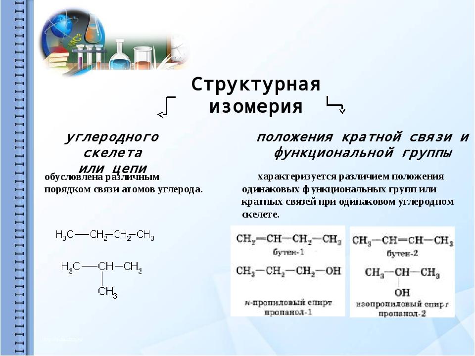 Пространственная изомерия Геометрическая Оптическая пара стереоизомеров, пред...