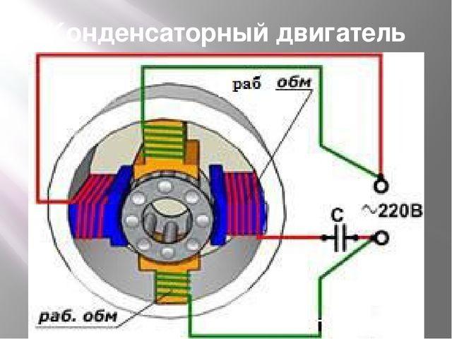 Конденсаторный двигатель