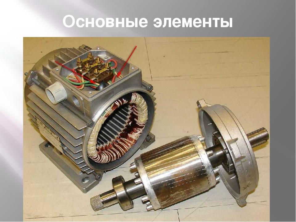 Основные элементы двигателя