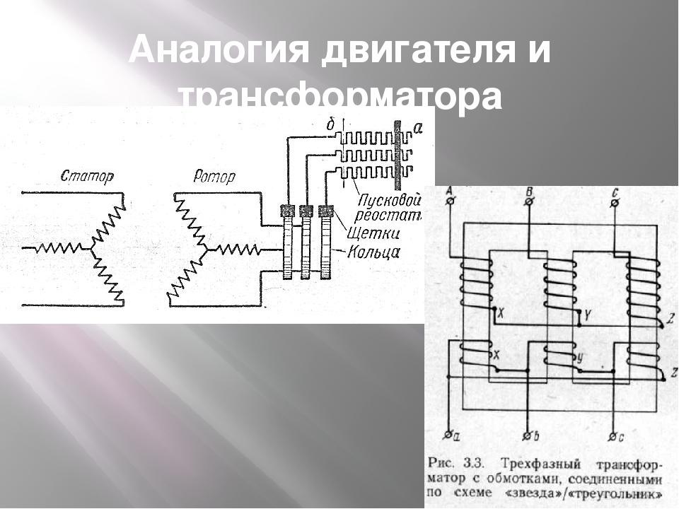 Аналогия двигателя и трансформатора