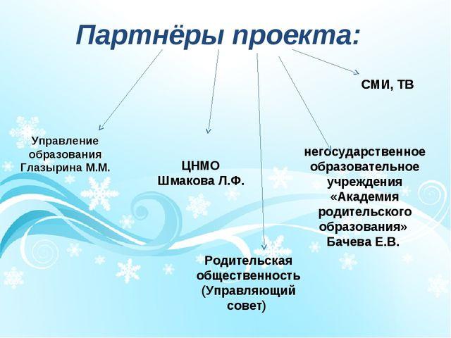 Партнёры проекта: Родительская общественность (Управляющий совет) негосударст...