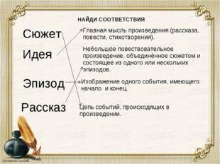 Сюжет Идея Эпизод Рассказ Главная мысль произведения (рассказа, повести, сти