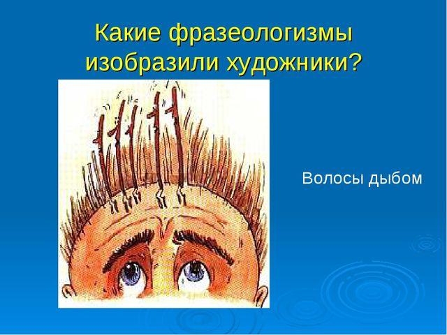 Какие фразеологизмы изобразили художники? Волосы дыбом