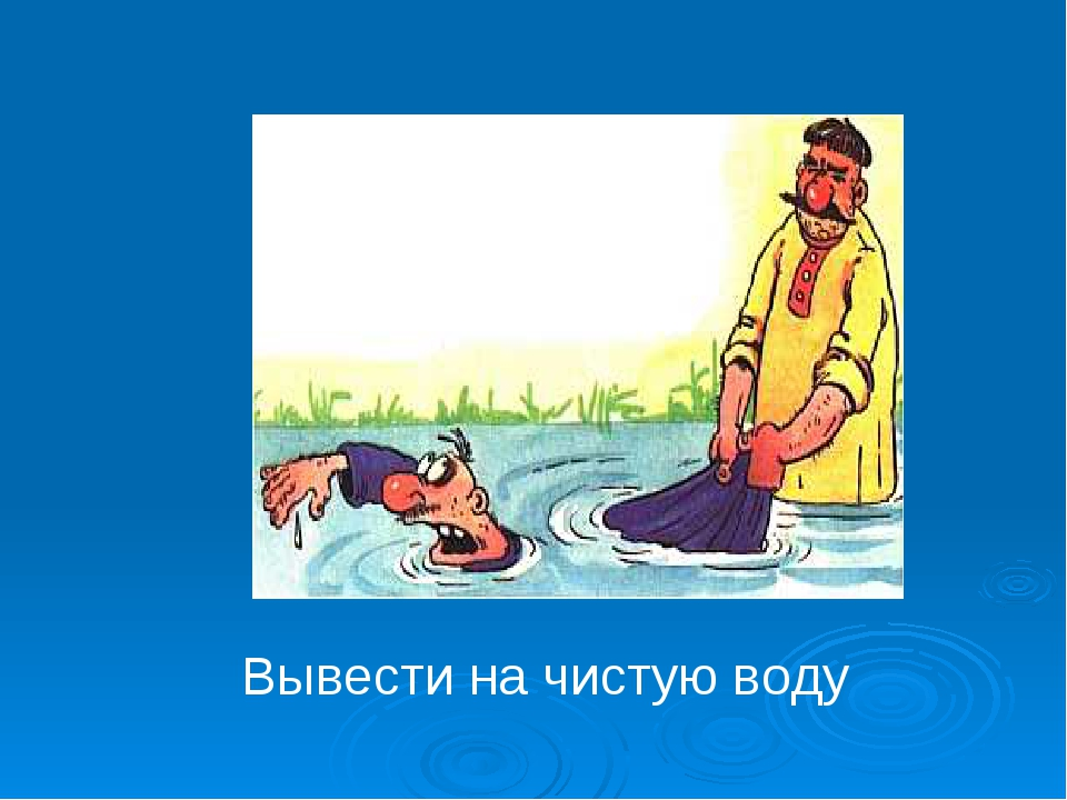 Вывести на чистую воду