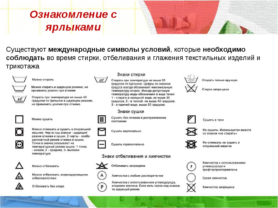 Ознакомление с ярлыками Существуют международные символы условий, которые нео...