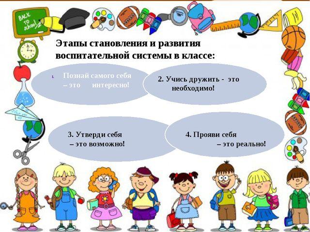 Этапы становления и развития воспитательной системы в классе: Познай самого...
