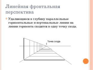Линейная фронтальная перспектива Удаляющиеся в глубину параллельные горизонта