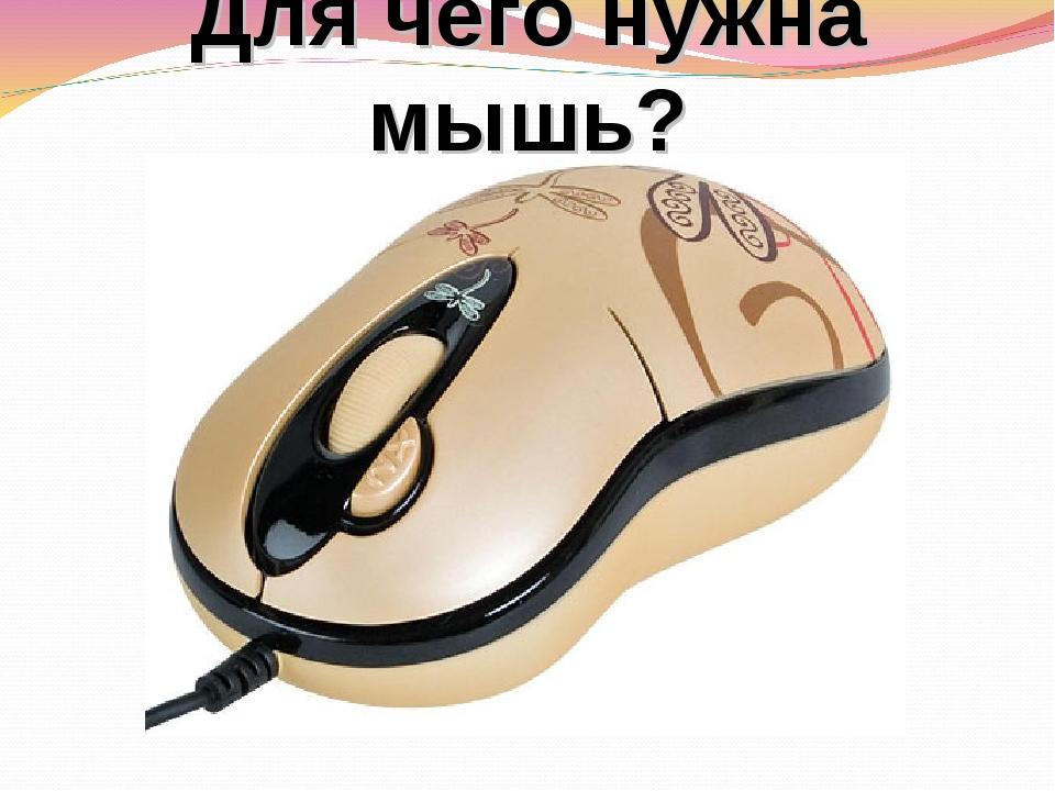 Для чего нужна мышь?