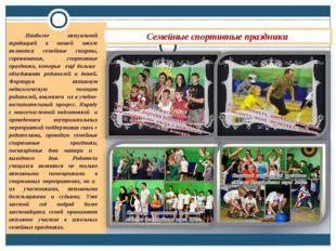 Семейные спортивные праздники Наиболее актуальной традицией в нашей школе явл