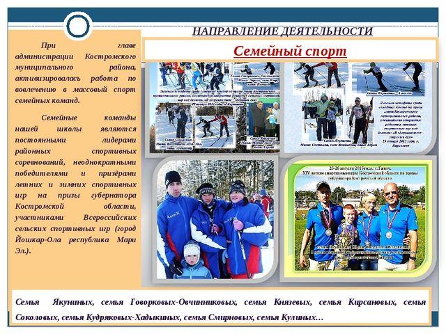 НАПРАВЛЕНИЕ ДЕЯТЕЛЬНОСТИ При главе администрации Костромского муниципального...