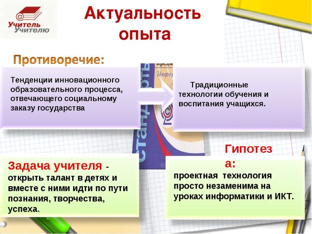 Актуальность опыта Задача учителя - открыть талант в детях и вместе с ними ид...