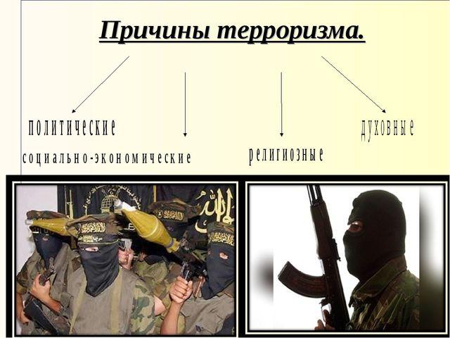 Причины терроризма.