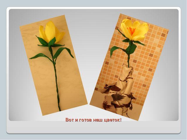 Вот и готов наш цветок!
