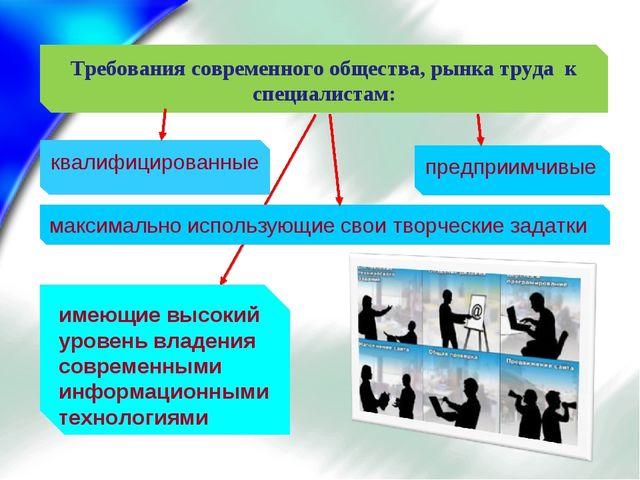 квалифицированные Требования современного общества, рынка труда к специалиста...