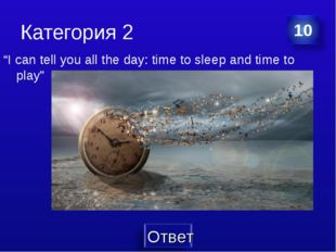 "Категория 2 ""I can tell you all the day: time to sleep and time to play"""