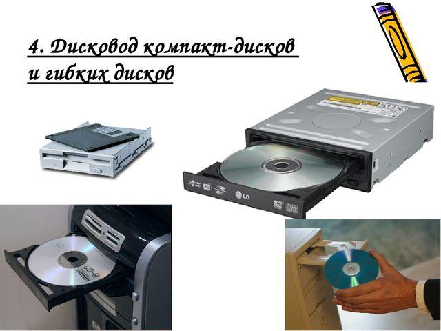4. Дисковод компакт-дисков и гибких дисков