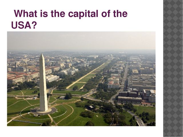 What is the capital of the USA?