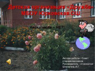 Детская организация «Дружба» МБОУ Юрковская ОШ Наркотикам – НЕТ! Авторы работ