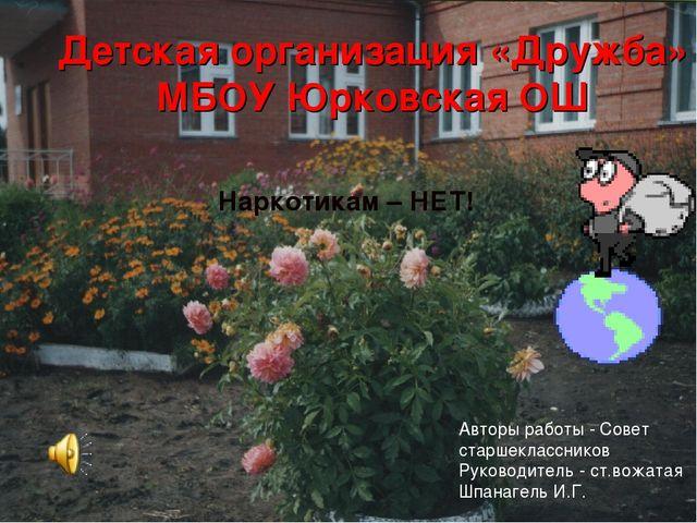 Детская организация «Дружба» МБОУ Юрковская ОШ Наркотикам – НЕТ! Авторы работ...