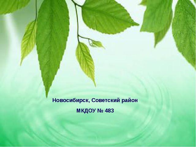 Новосибирск, Советский район МКДОУ № 483